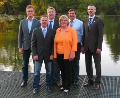 Unser Vorstand (von links): Birger Scheuer, Christoph Sohr, Heinz Weber, Petra Glaser, Klaus Ranglack und Christoph Bendel