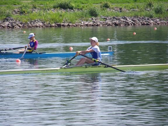 Sophia Krause (vorne) erzielte einen guten dritten Platz
