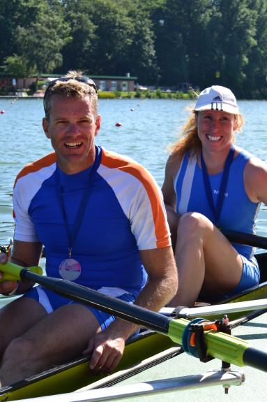 Der erfolgreiche Mixed-Doppelzweier MMW 2x C (MA43) mit Stefan Heyde (Limburg) und Sabine Klaussner (Offenbach)