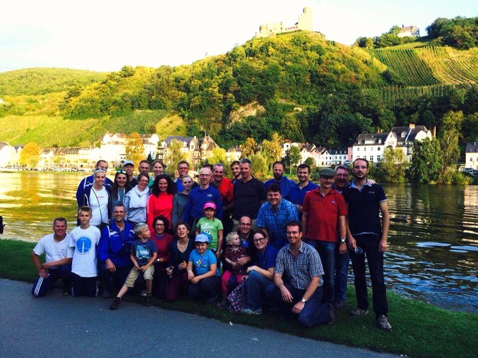 Das gesamte Aufgebot des Limburger Club für Wassersport in Bernkastel-Kues