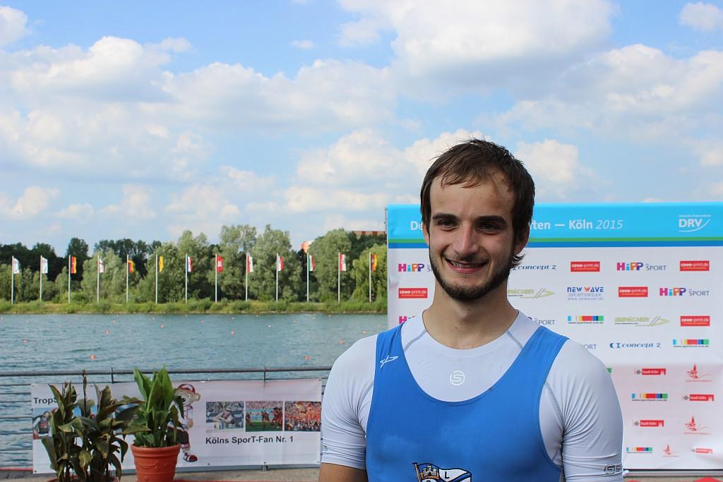 Holte eine Silbermedaille: Johannes Lange