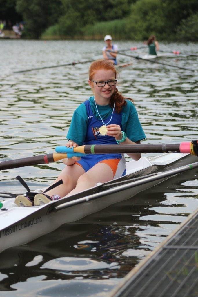 Die Siegerin des Bundeswettbewerbs im Lgw. Mädchen Einer: Hannah Jordan