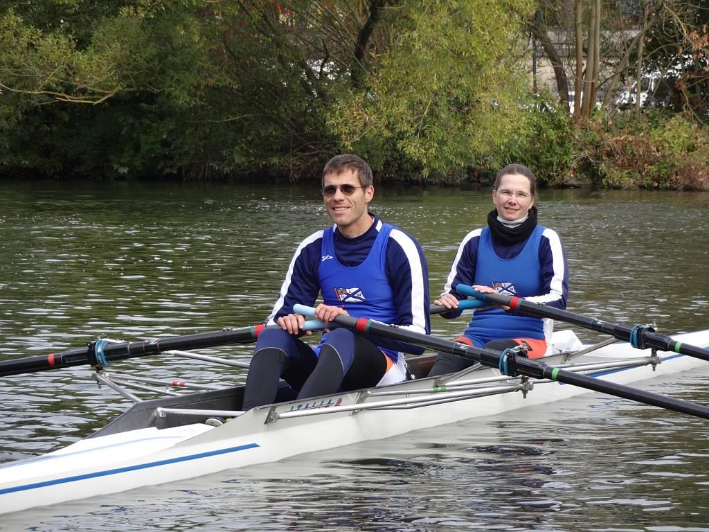 Das war Teamwork: Nicolas Seiffert und Dr. Jutta Will waren im Mixdoppelzweier erfolgreich. (Foto: Jörg Scheiner, Frankfurt)